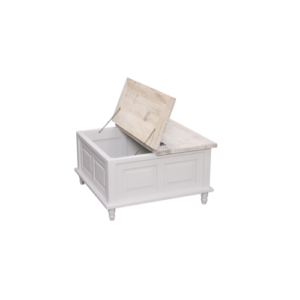 Hanley square coffee storage table french grey