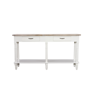 Hanley console table with 2 drawers in Antique white