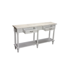 Hanley 2 drawer console table in french grey