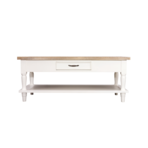 Hanley rectangular coffee table antique white