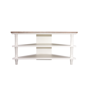 Hanley Corner TV Table Antique white