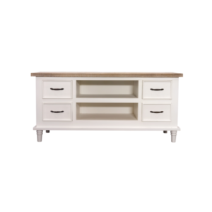 Hanley TV Table with Storage Antique white