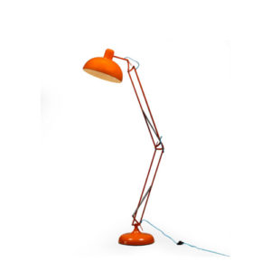 Orange Desk Style Floor Lamp