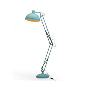 Sky Blue Desk Style Floor Lamp