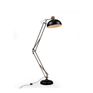 Black and Copper Floor Lamp