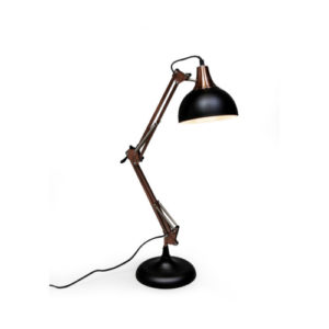 Matt Black and Copper Desk lamp