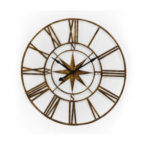 Aged Gold Navigator Skeleton clock