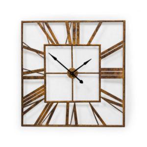 Extra Large Antique Gold Square Skeleton Clock