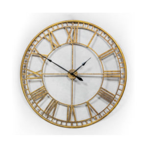 Extra large gold skeleton clock