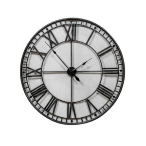 Extra large Black metal skeleton clock