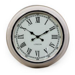 Cream clock with white face