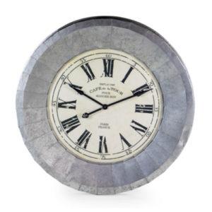 Bistro Clock Silver