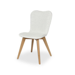 Lily white dining chair cut out
