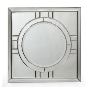 Francisco Art Deco Mirror Silver