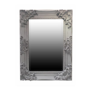 Kitty Swept Frame Mirror in Grey