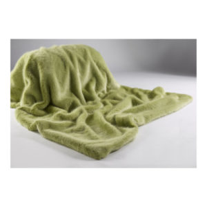Soft Pastel Green Faux Fur Throw