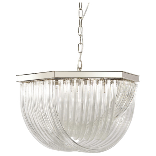 Marlow Glass Ribbed Chandelier