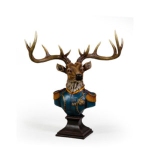 Military Stags Head Bust