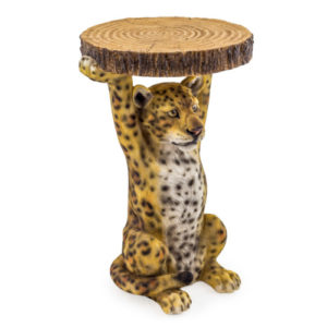 Leopard Side Table With Trunk Effect Top