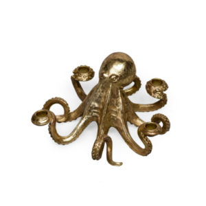 Octopus Candle holder Gold