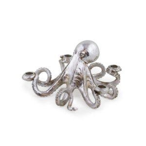 Octopus Candle holder silver