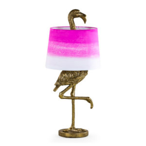 Flamingo Lamp Gold with Pink Shade