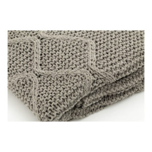 Cotton Cable Knit Throw mid grey