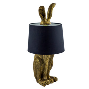 Bigwig Bunny Lamp Antique Gold