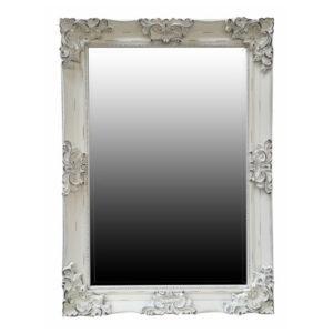 Juliette Distressed White Rectangular Mirror