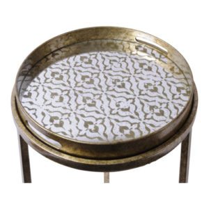 Prague Antique gold side tables with trays