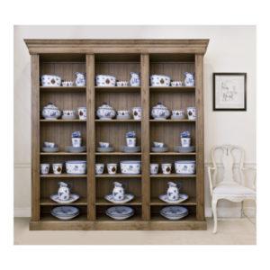 Katrina scandi style oak bookcase treble