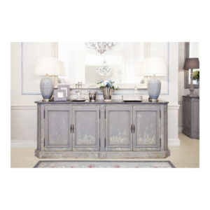 Katrina 4 Door Buffet slate top decorative mouse grey