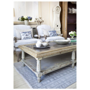 Katrina Scandi style coffee table with slate top