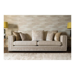 Hugo Kingsize Sofa in Flint Champagne