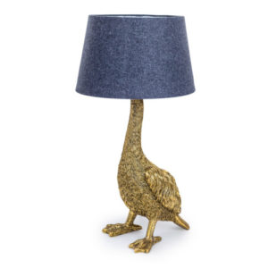 Goose Lamp Antique Gold