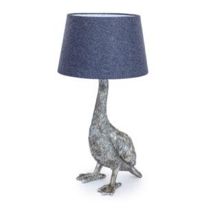 Goose Lamp Antique Silver