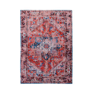Virgo aged Rug bright red