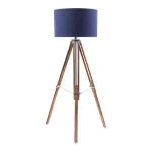 Apollo Tripod Lamp Navy Shade