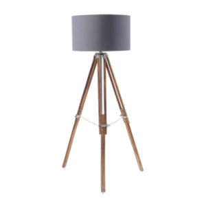 Apollo Tripod Lamp Grey Shade