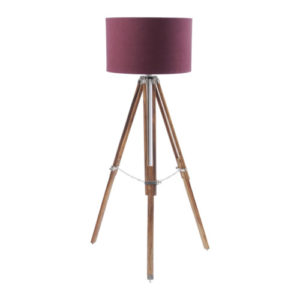 Apollo Tripod Lamp Burgundy Shade