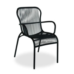 Loop Dining Chair Black outdoor