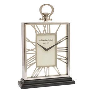Silver-Mantel-Clock-Black-Base-500x500