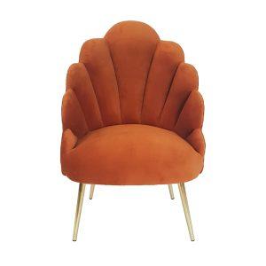 Burnt Orange Megan Tullip Chair