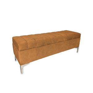 Archie Storage Ottoman Orange