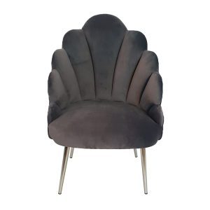 Charcoal Grey Megan Tuilip Chair