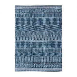 Aztec denim blue rug