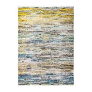 Sahara Striped Rug Blue Yellow