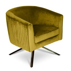 Lime Velvet Harry Swivel Chair