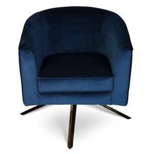 Marine Blue Swivel Chair front view