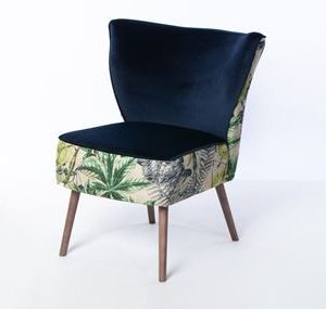Portobello Cocktail Chair Madagascar Forest Brussels Ink